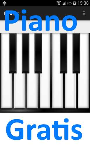 Piano para android tablet gratis for Strumento online gratuito piano piano